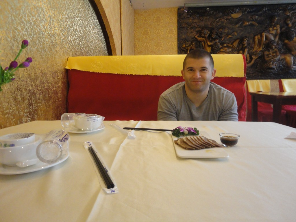 First meal in Beijing