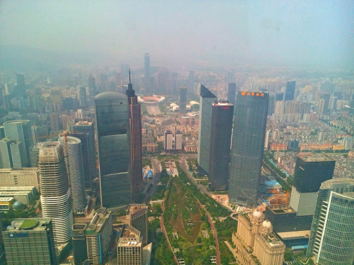 Guangzhou, China, Skyline from the International Finance Centre