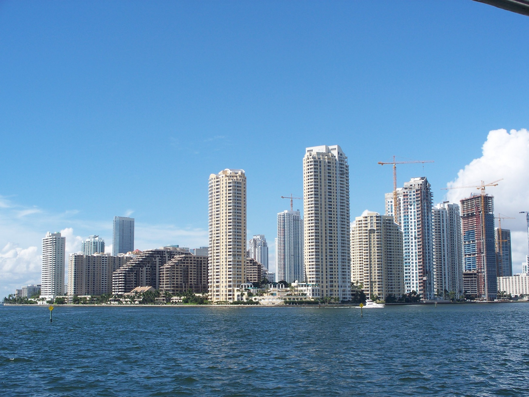 Highrise Buildings, Miami, Biscayne Bay