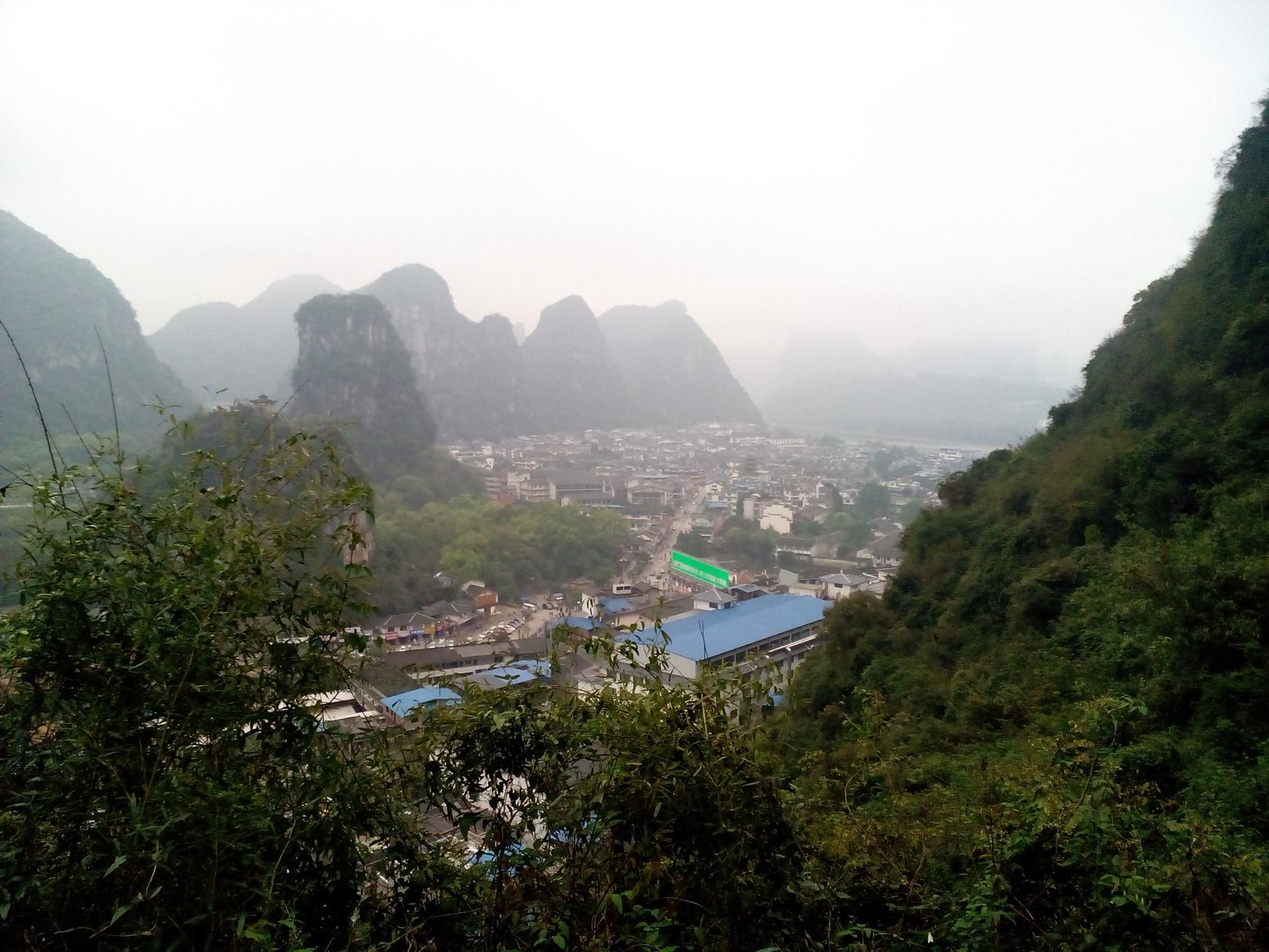 Village of Yangshuo, guangxi, China, Panorama