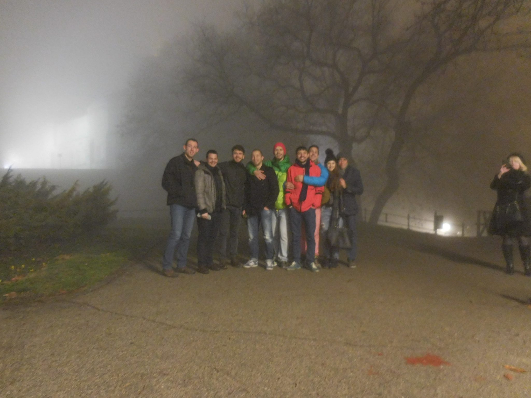 Belgrade, Kalemegdan, Foggy, the Group