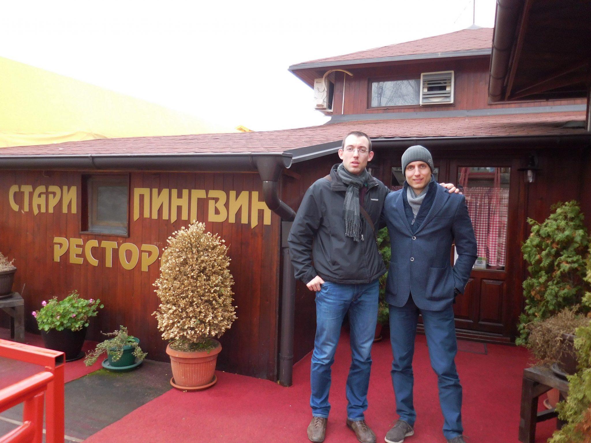 Belgrade, Stari Pingvin Restaurant, Aleksandar and Svetoslav, Serbia