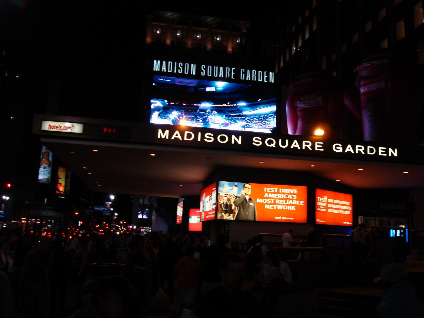 New York City_MadisonSquareGarden_Entrance_PennStation