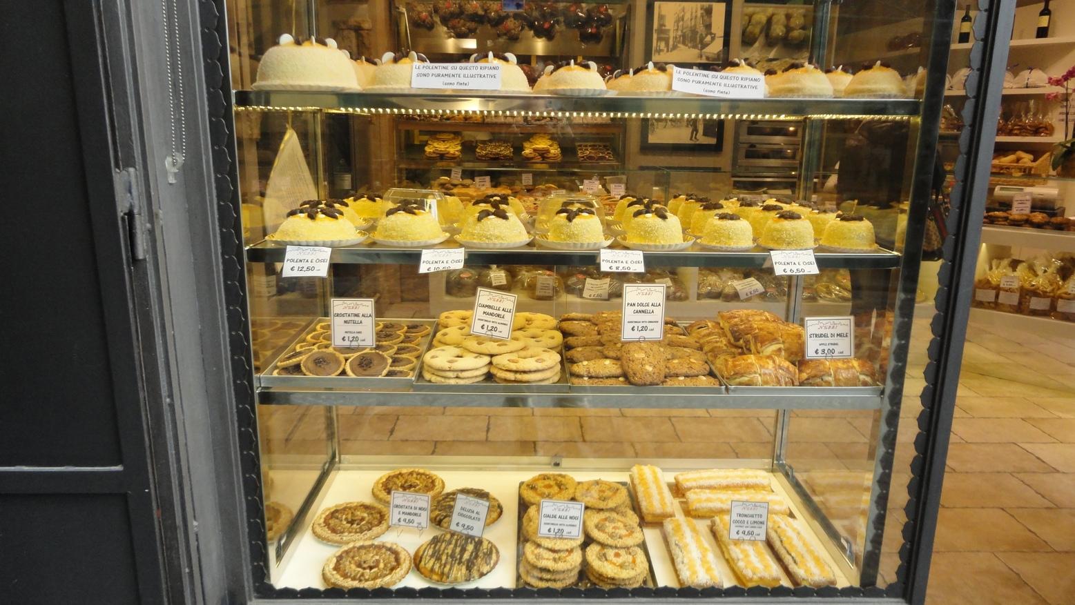 Bergamo Italy Pastry Shop Upper City