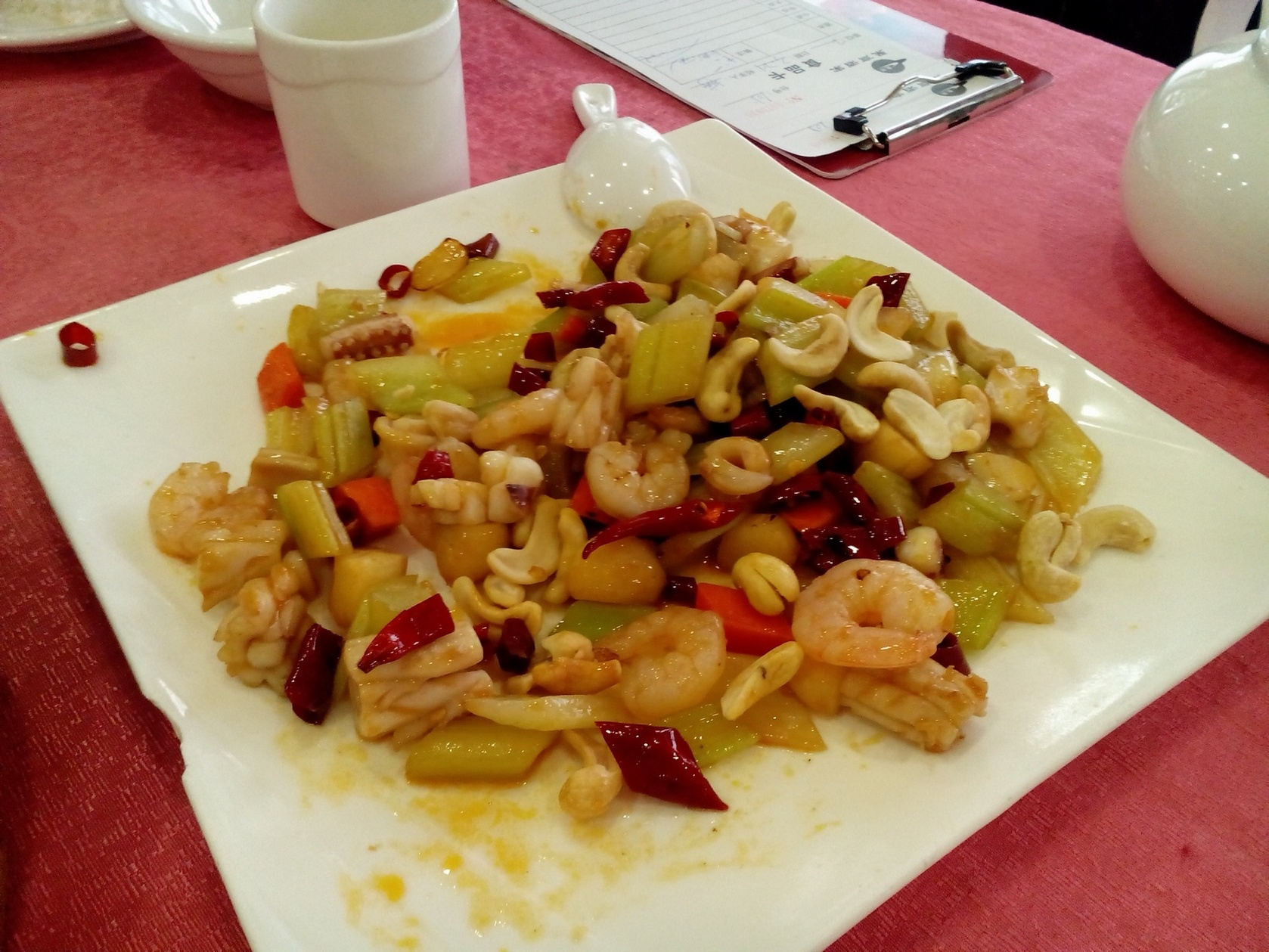 China Guangzhou, Spicy Chinese Seafood Dish