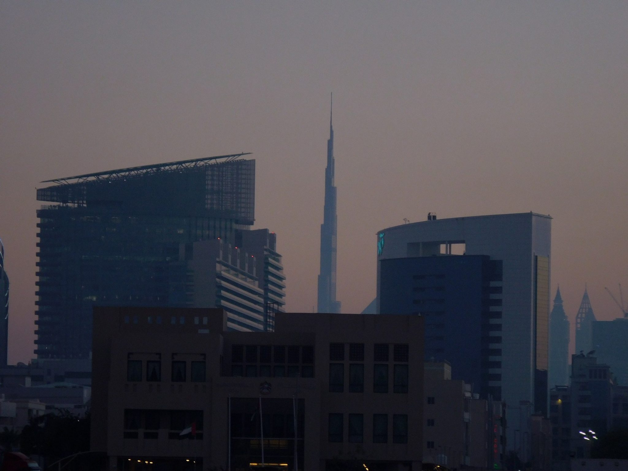 Dubai Old Town View of Burj Khalifa