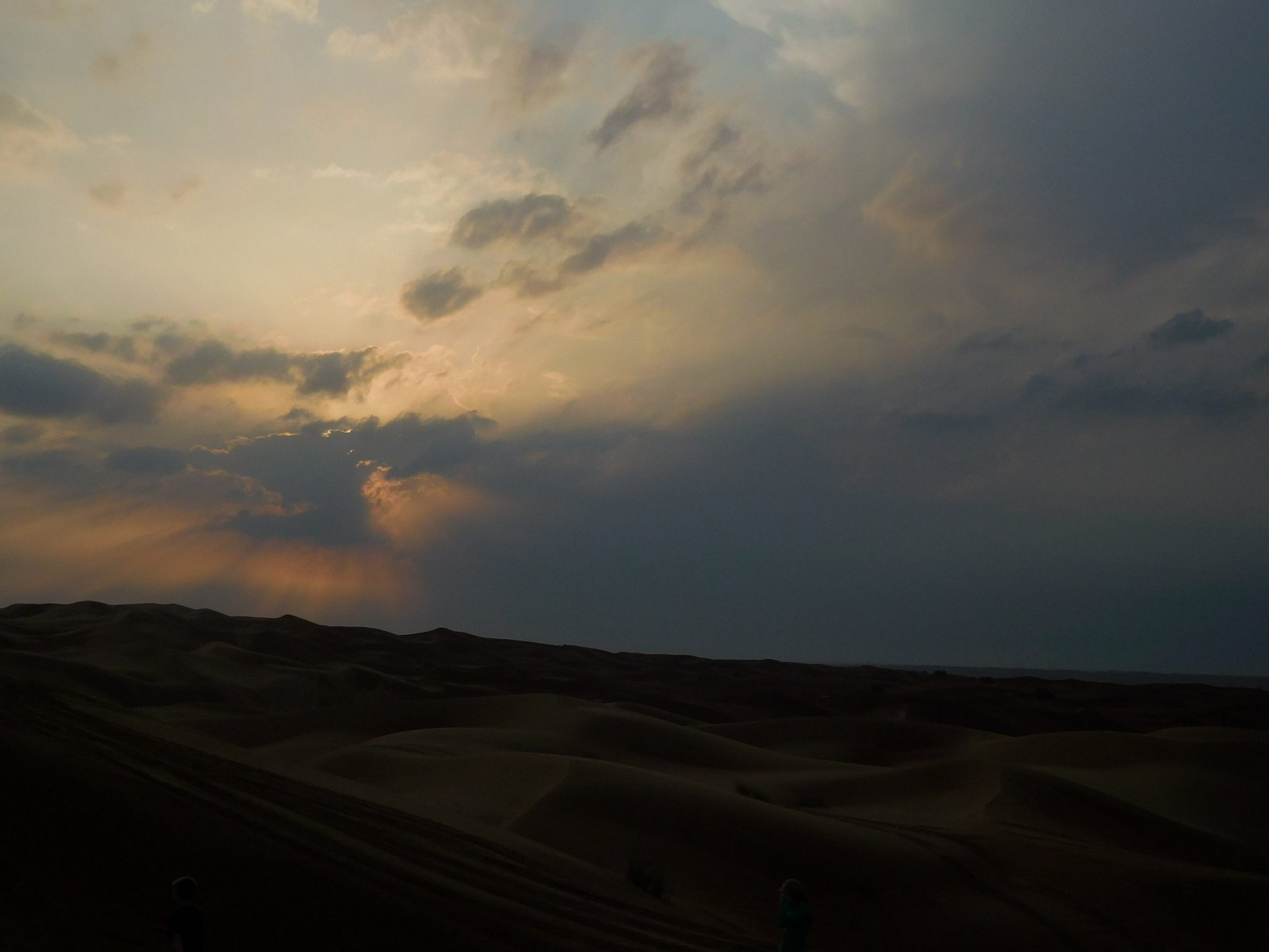 Dubai Safari Sunset over the Dunes