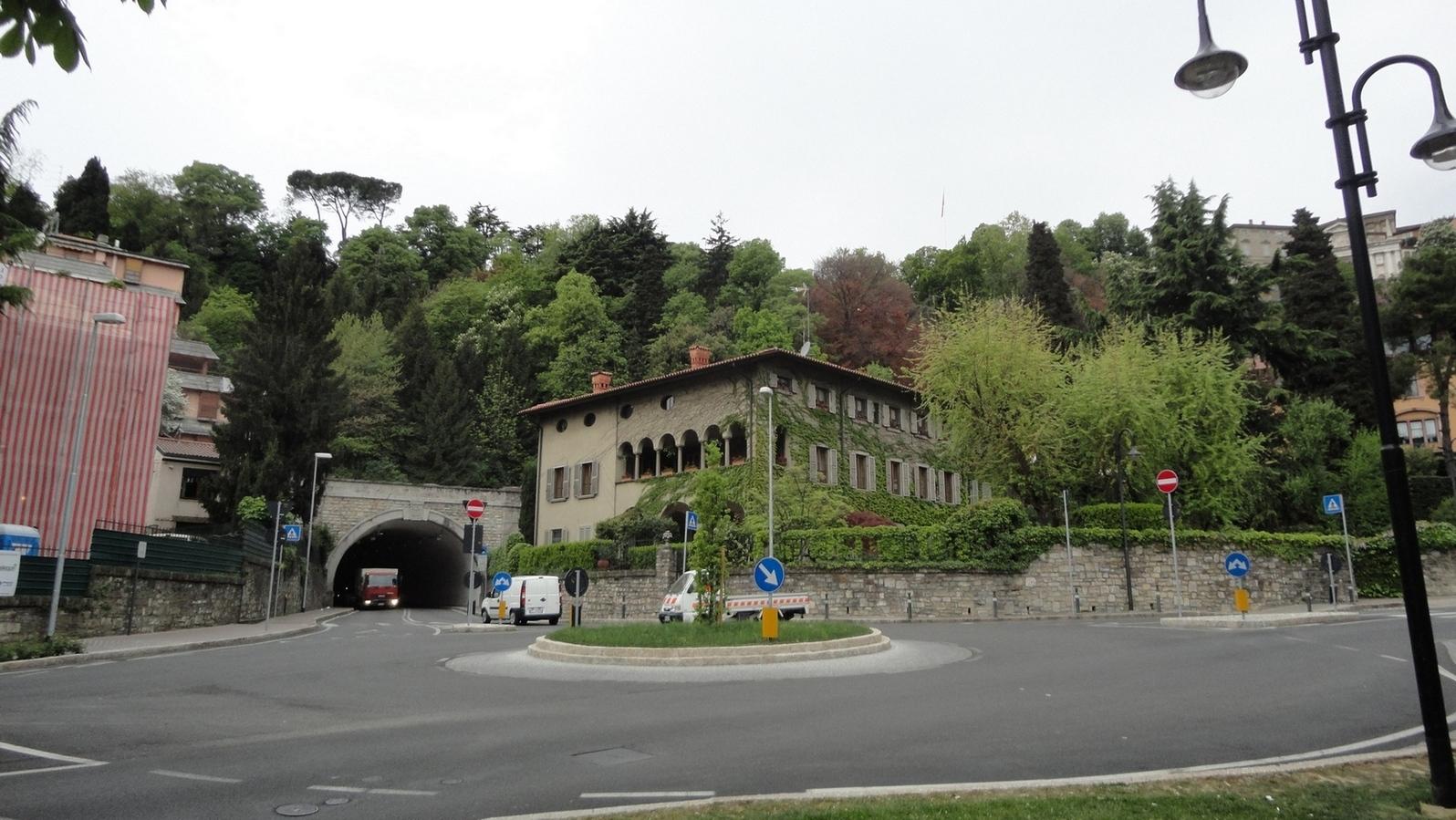 Green Bergamo Italy Cable Train