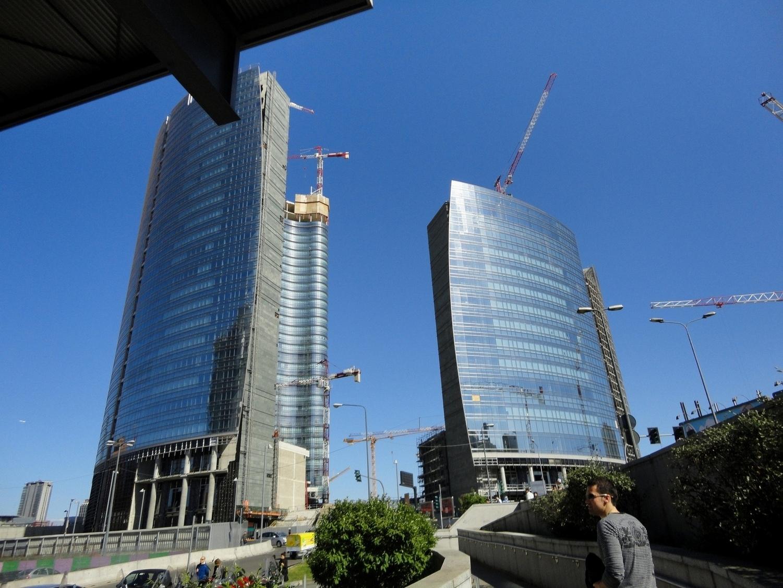 Milan Skyscrapers Italy Garibaldi Train Station