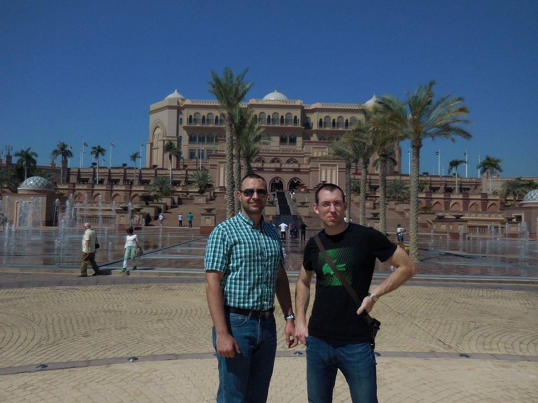 Abu Dhabi, Emirates Palace,Gorgeous Fountains, UAE