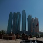 Abu Dhabi, Etihad Headquarters, Seen from Emirates Palace
