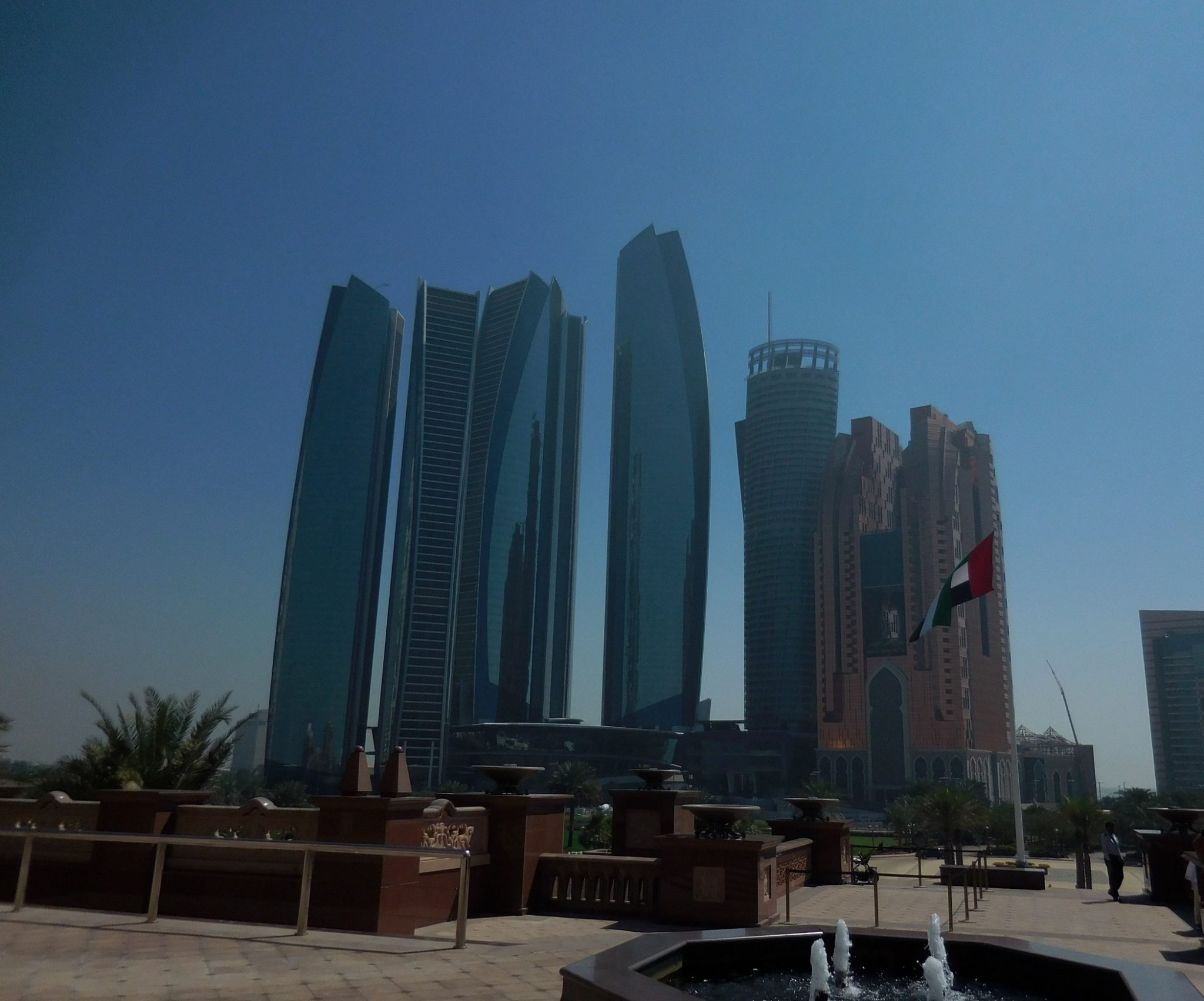Abu Dhabi, Etihad Headquarters, Seen from Emirates Palace