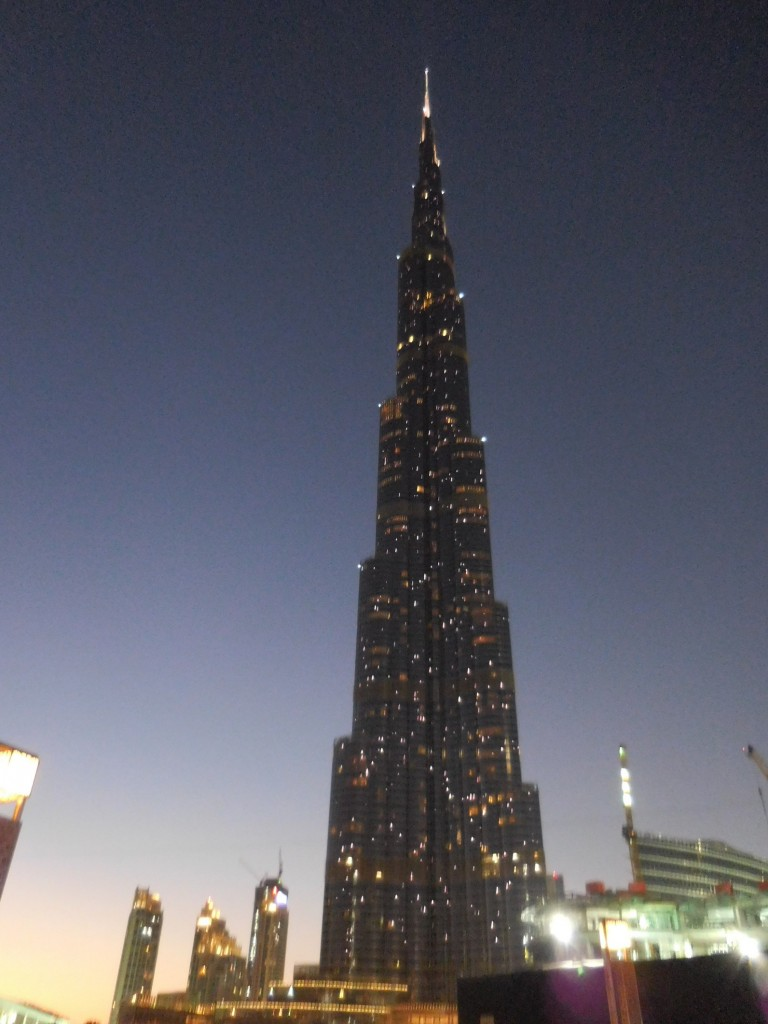 Dubai, Burj Khalifa, Beautiful building, Dusk, UAE