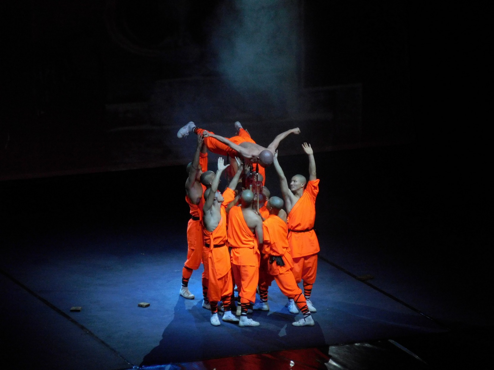 Shaolin monks, Multiple Spears Dance, Sofia, Bulgaria