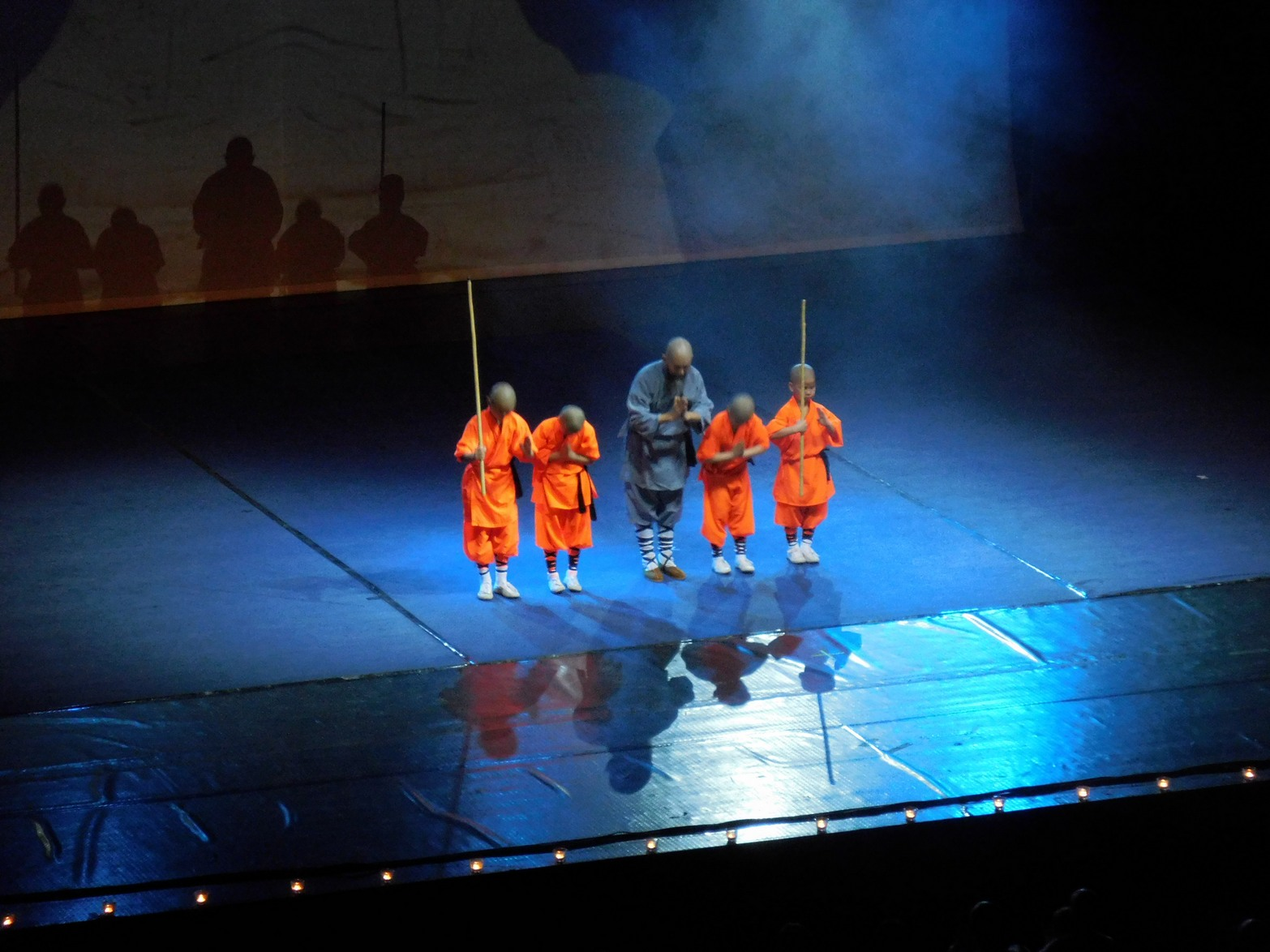 Shaolin monks, The Master with his Grandchildren, Sofia, Bulgaria