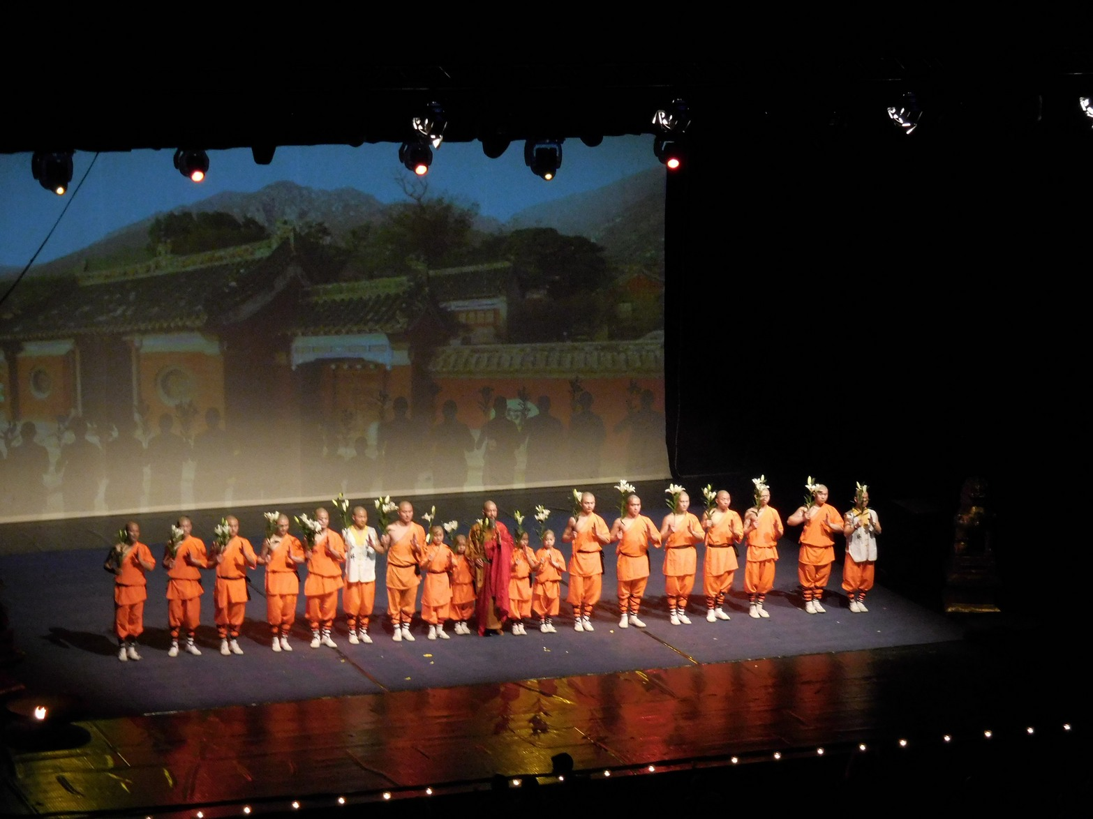 Shaolin monks, the Whole Group Saying its Goodbyes, Sofia, Bulgaria
