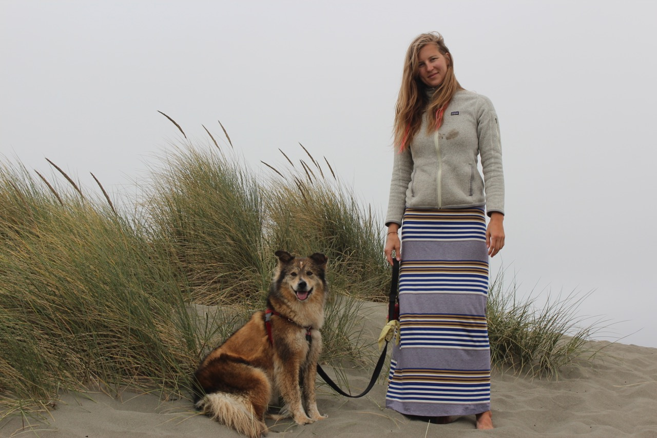 8000 miles trip - Oregon Coast, Oregon, USA, Mer and the dog