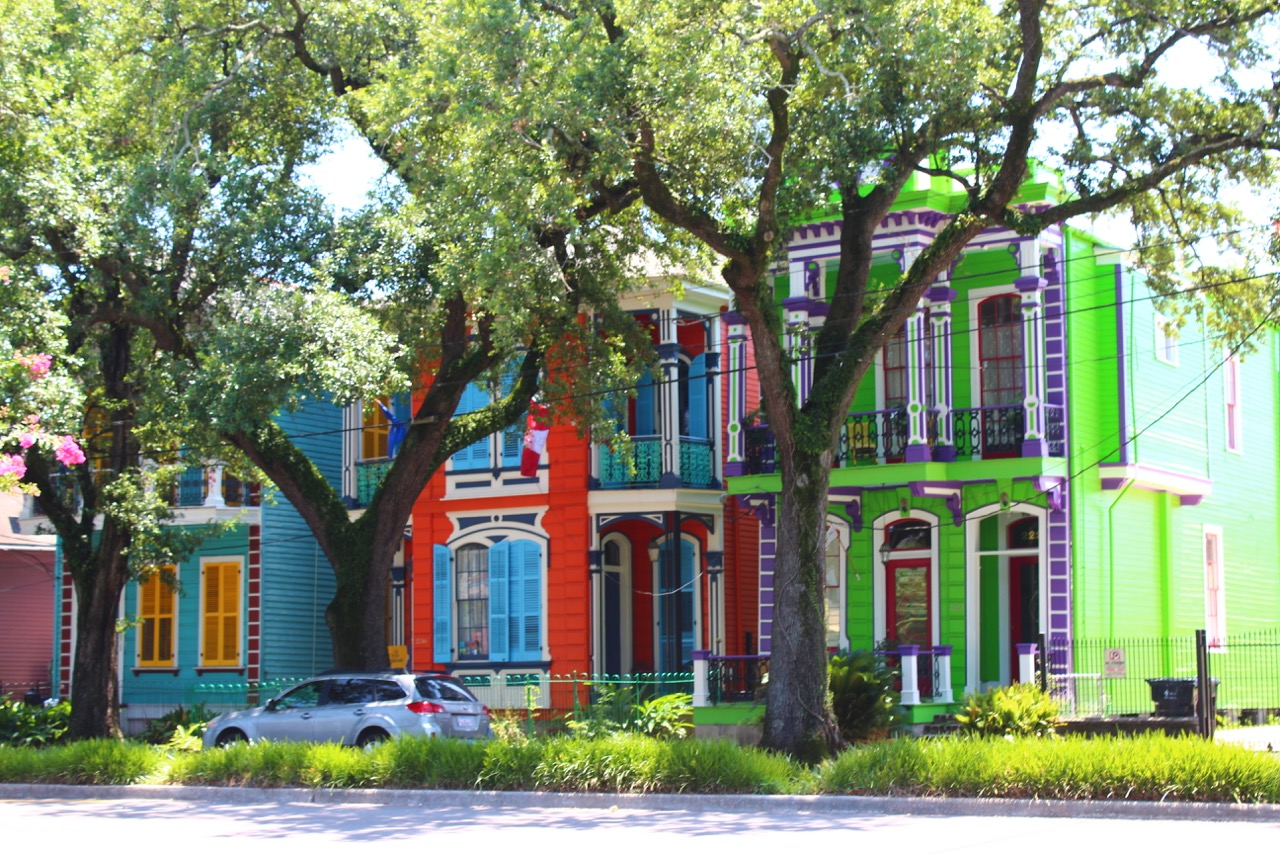 8000 miles trip - Shotgun Houses, New Orleans, Louisiana, USA