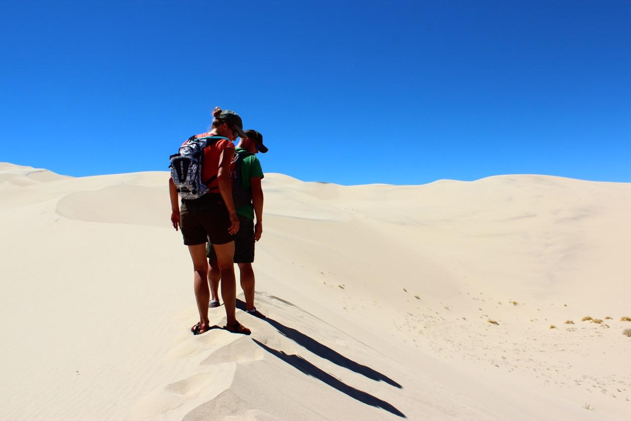 8000 miles trip - Singing Dunes, Bishop, California, USA, Hot Weather