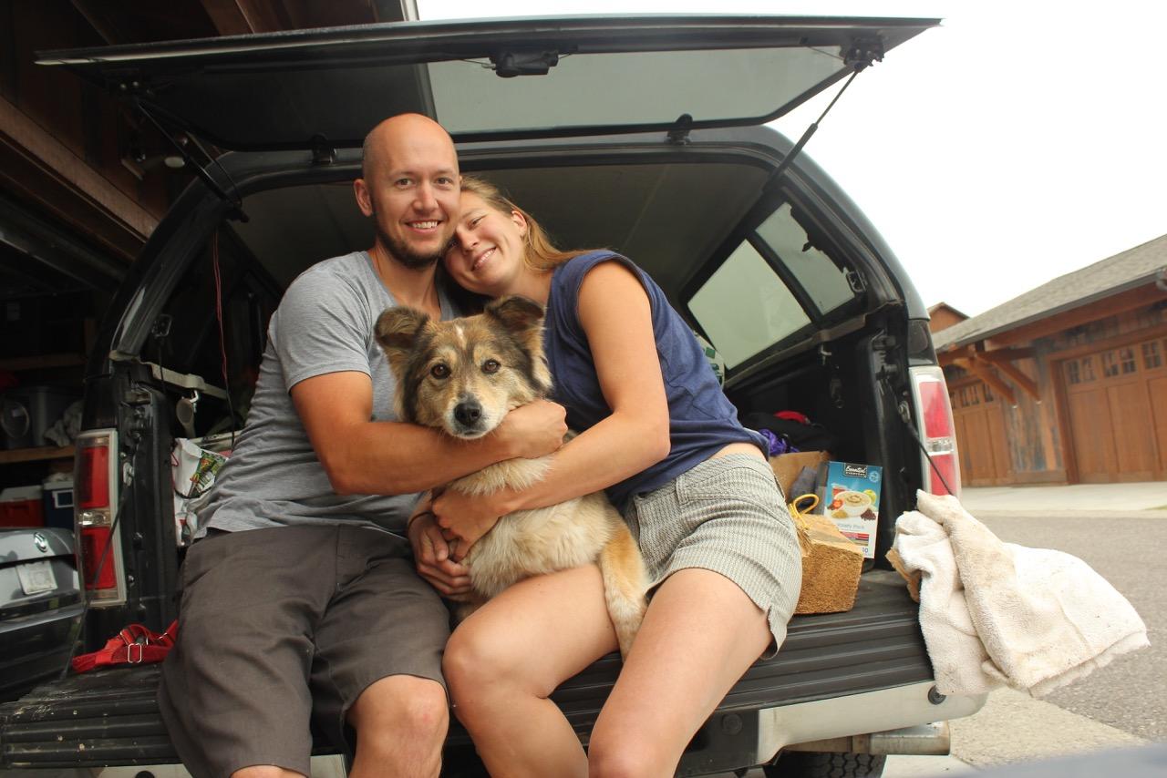 8000 miles trip - We made it home, Mer, Jim, and the Dog, USA, Montana