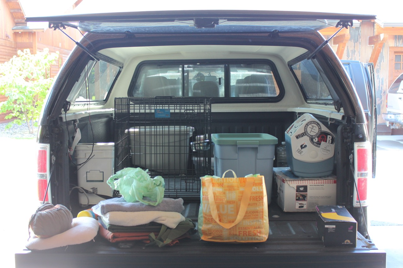8000 miles trip - loaded truck, let the party begin