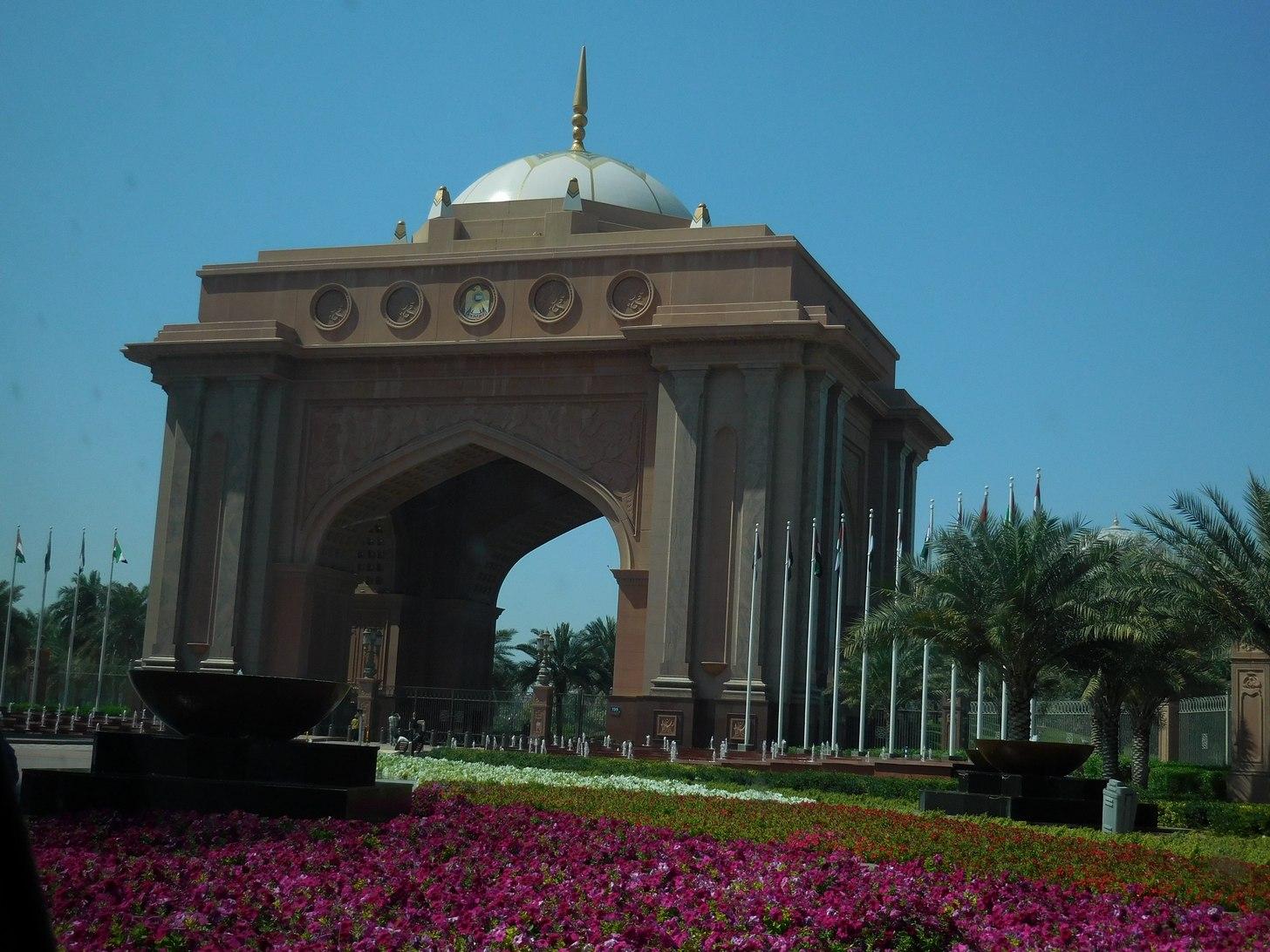 Emirates Palace, Abu Dhabi, UAE, Entrance Parking, Castle Resemblance