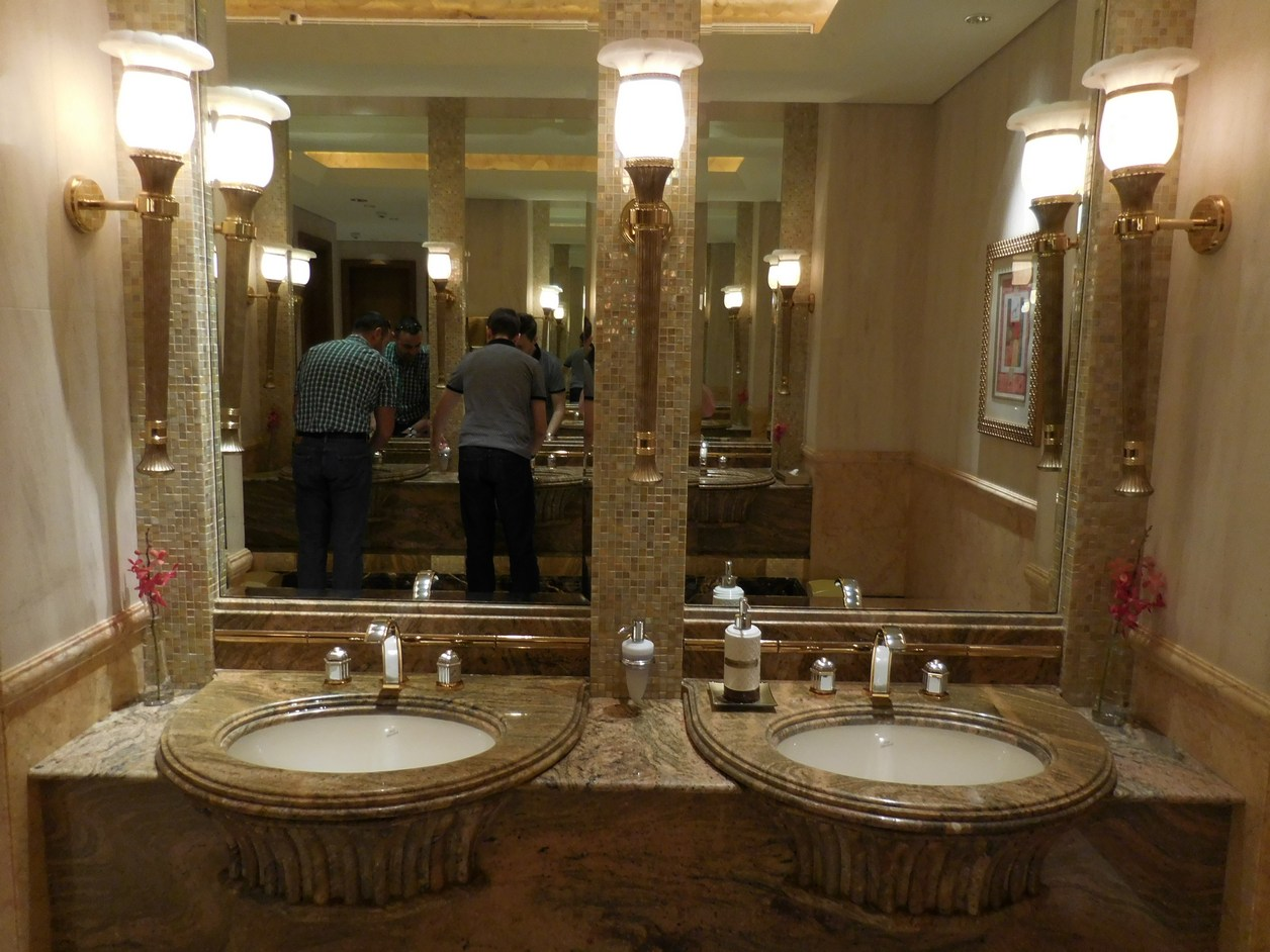 Emirates Palace, Abu Dhabi, UAE, Luxurious Restrooms, Opulence