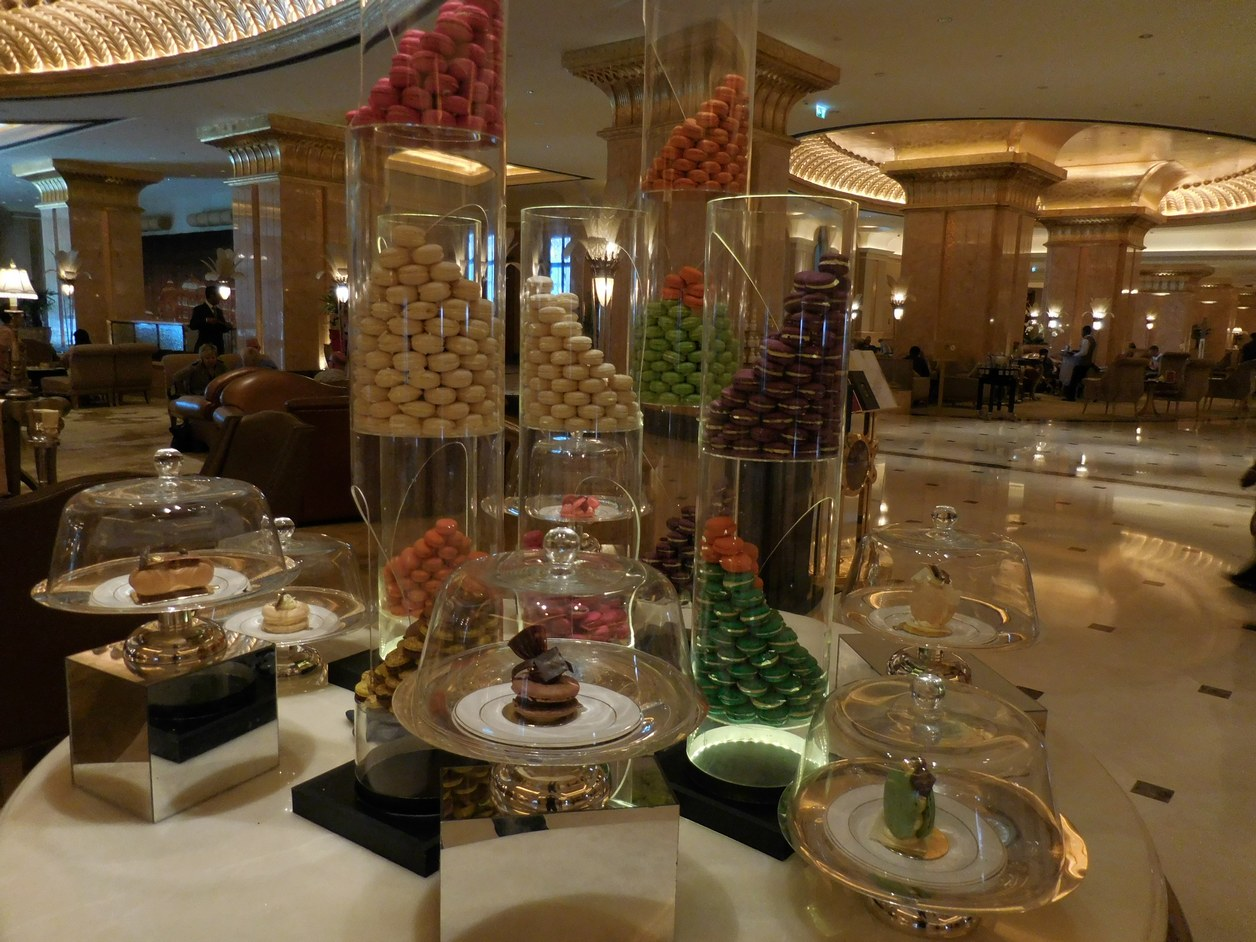 Emirates Palace, Abu Dhabi, UAE, Macaroons on Display, Scrumptious Delicacy