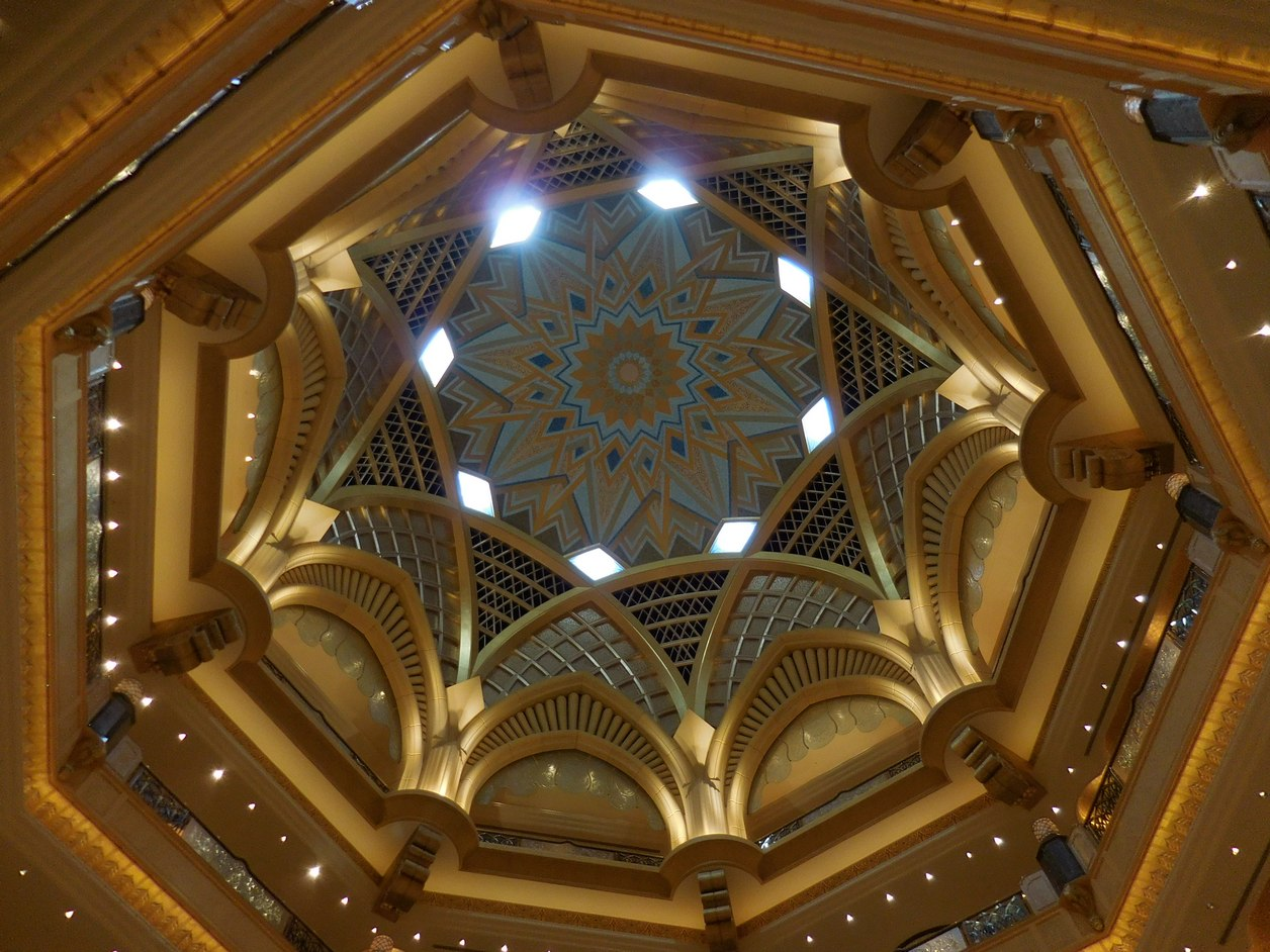 Emirates Palace, Abu Dhabi, UAE, Opulent Dome, Gold and Silver