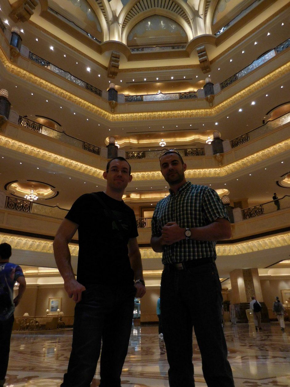 Emirates Palace, Abu Dhabi, UAE, Svet and Stiliyan, Tons of Gold