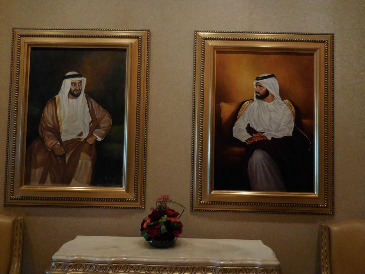 Emirates Palace, Abu Dhabi, UAE, Two Sheikhs, Wall Portrait