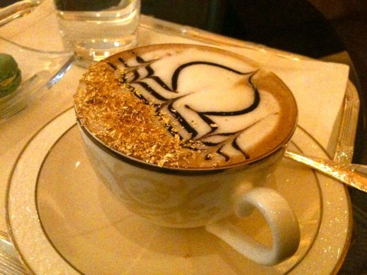 Emirates Palace, UAE, Abu Dhabi, Gold Coffee, Image Pinterest