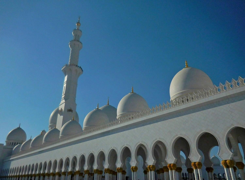 Sheikh Zayed Grand Mosque, Abu Dhabi, UAE, Approaching the Mosque, Close Shot