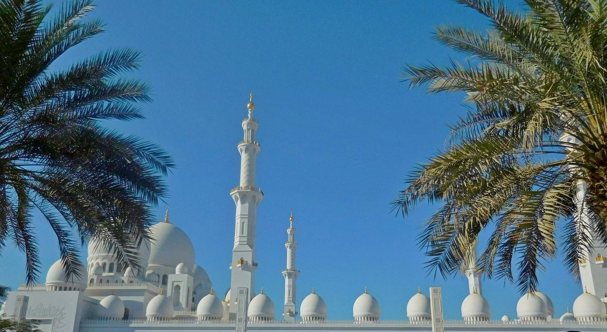 Sheikh Zayed Grand Mosque, Abu Dhabi, UAE, Outside, Afternoon