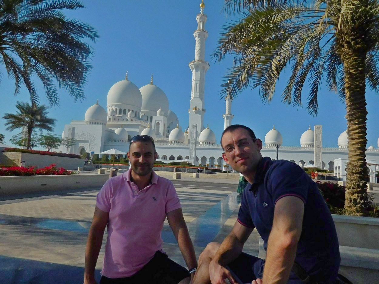 Sheikh Zayed Grand Mosque, Abu Dhabi, UAE, Stiliyan and Svet, Afternoon