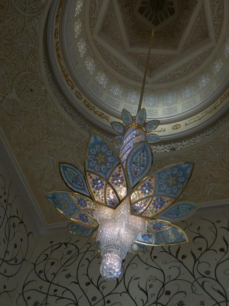 Sheikh Zayed Grand Mosque, Abu Dhabi, UAE, Wonderful Chandelier ...