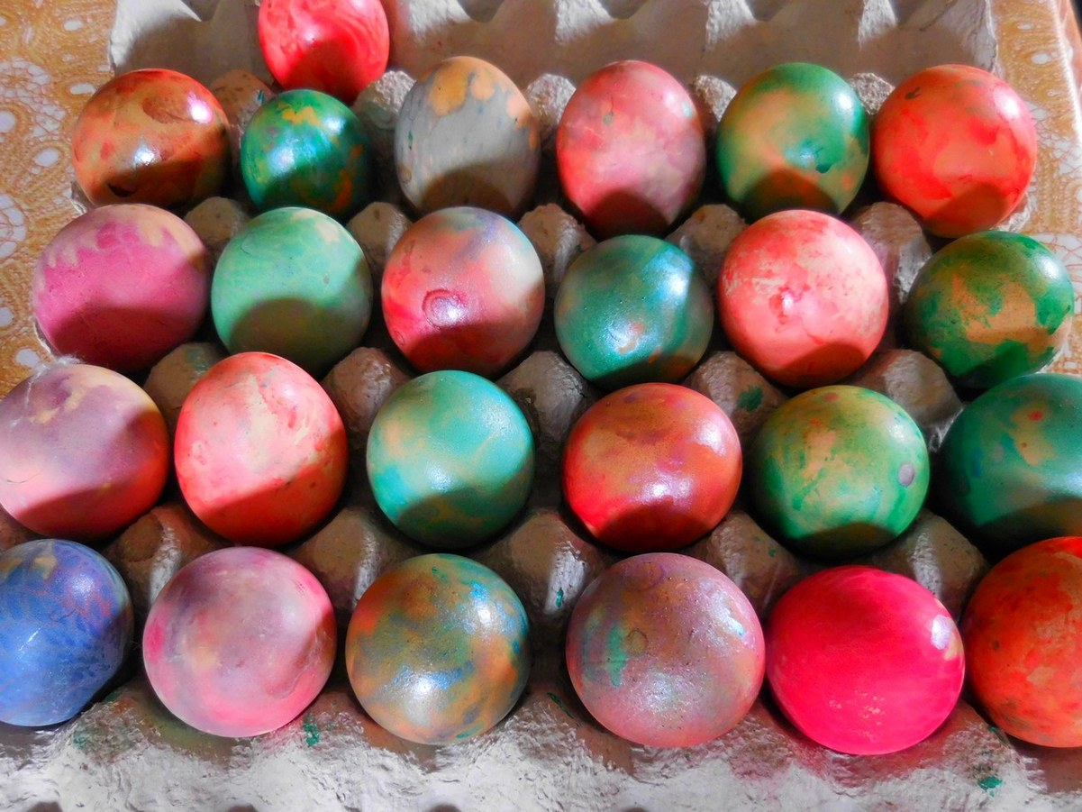 Orthodox Easter, A Batch of Colourful Eggs, Bulgaria,