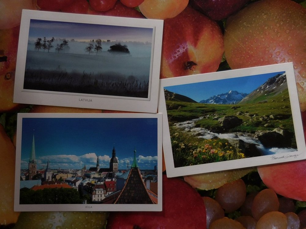 Postcard Exchange, All Postcards, Latvia, France, Bulgaria