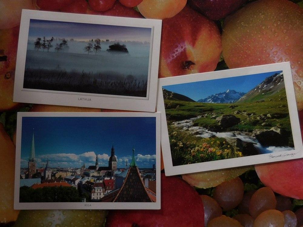 Postcard Exchange, All Postcards, Latvia, France, Bulgaria