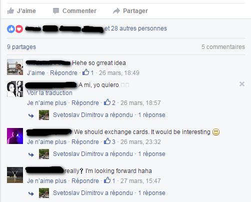 Postcard Exchange, Facebook Announcement, Screenshot 2, Bulgaria
