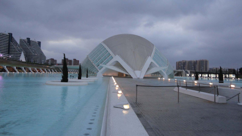 Valencia, Spain, Ciudad de las Artes y las Ciencias, L'Hemisfèric 2, Closer Shot of the Building