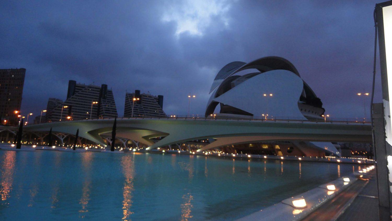 Valencia, Spain, Ciudad de las Artes y las Ciencias, Palau de les Arts Reina Sofia, Night Shot, Amazing View