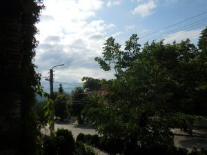 Villa Vuchev, Velingrad, Spa Capital of the Balkans, View from the Balcony to the Street, Kamenitsa, Bulgaria