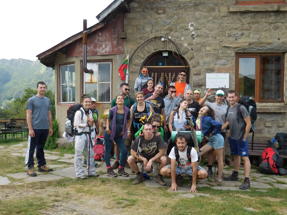 On the Footsteps of Vassil Levski, Hike in the Mountains, Bulgaria, Mazalat Hut, Group Photo