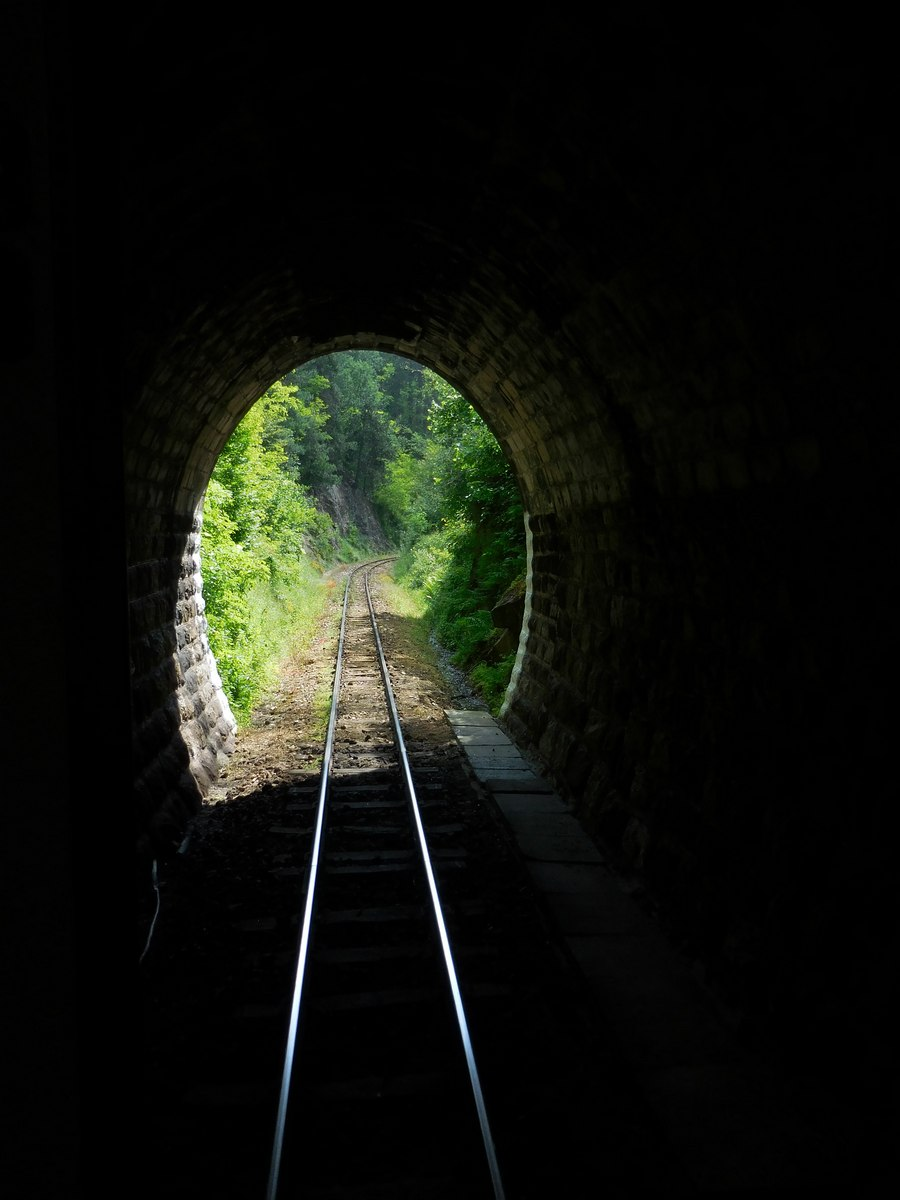 Velingrad, Spa Capital of the Balkans, Narrow-gauge Railroad, Dark Tunnel Photo, Bulgaria