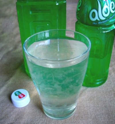 Aloe Vera Drink, the Ultimate Panacea, Close Up Shot of the Drink