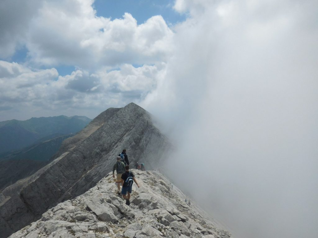 Pirin Mountains, Bulgaria, At Koncheto Ridge, Approaching Fog