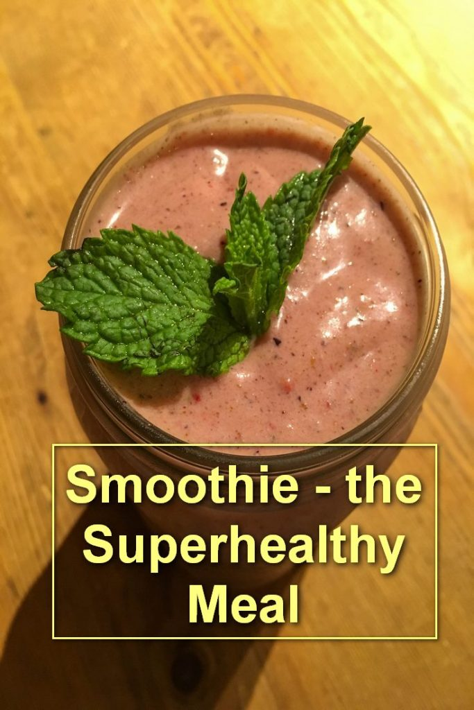 Smoothie, Strawberry, Banana, Almond, Pinterest Image