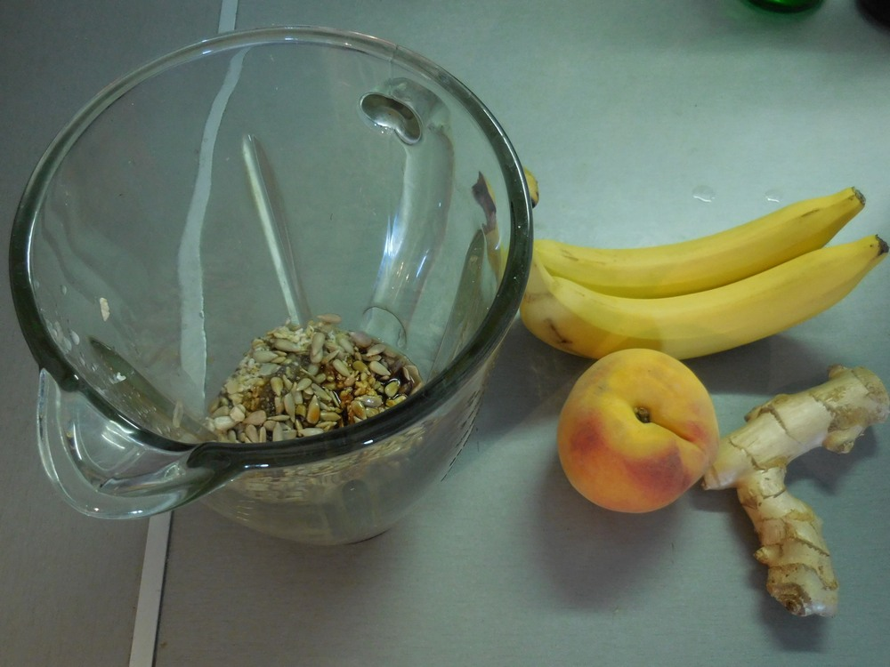Smoothie Preparation, Fruits, Nuts