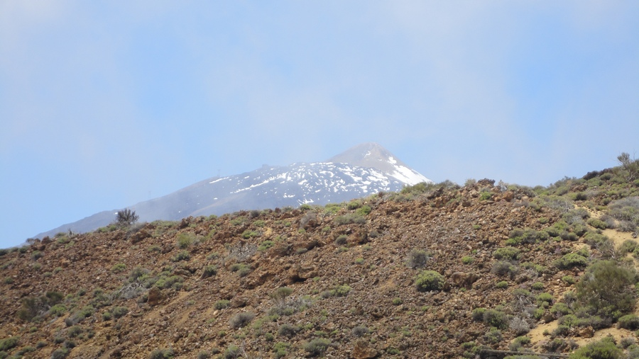 Tenerife, the Island of Eternal Spring, Parque Nacional del Teide, Close Shot of Pico del Teide,